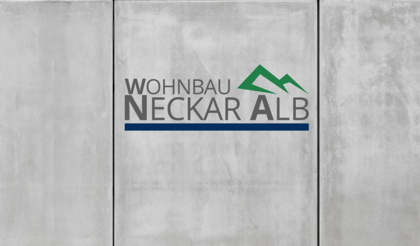 Logo Wohnbau Neckaralb Betonwand